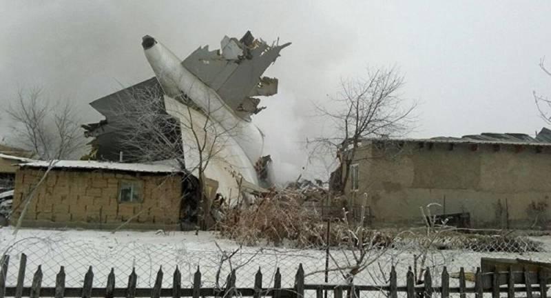 Boeing 747 разбился под Бишкеком, более 30 погибших