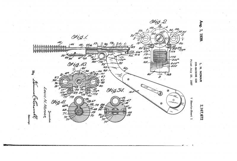 Проект пистолета-пулемета Л.Н. Номара