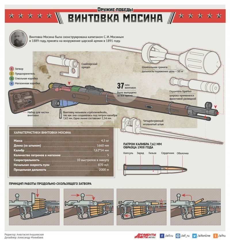 7,62-мм винтовка системы Мосина. Инфографика