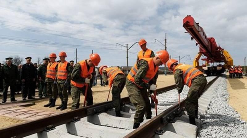 ЖД войска возобновили работы по прокладке путей в обход Украины