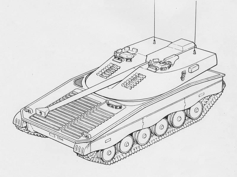 Проекты легких танков семейства UDES 14 (Швеция)