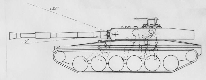 Проект легкого танка UDES 15/16 (Швеция)