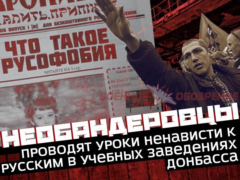 Необандеровцы проводят уроки ненависти к русским в учебных заведениях Донбасса