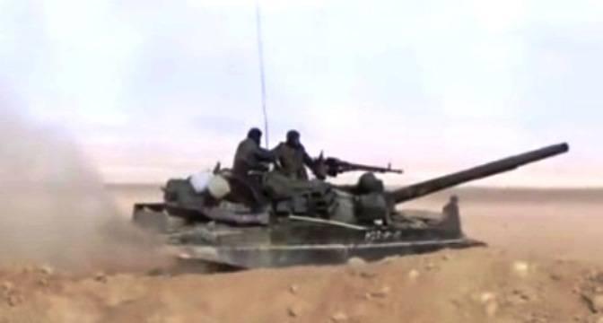 Сирийские танки стали применять высокоточные снаряды