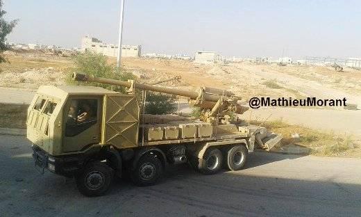 В Сирии снова замечены дальнобойные САУ с 130-мм пушкой М-46