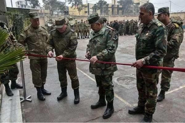 МО РФ открыло в Алеппо сапёрную школу для сирийских военнослужащих