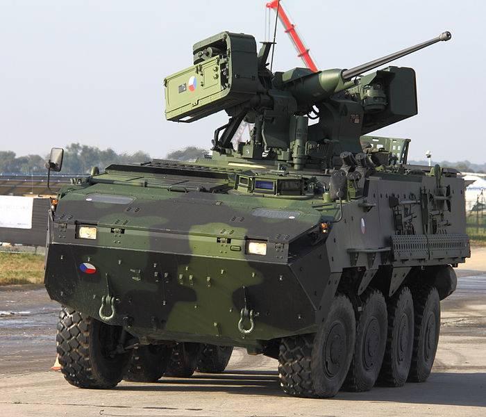 Минобороны Чехии заказало 20 колесных бронемашин Pandur II