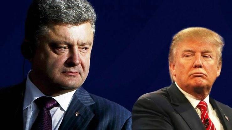 Трамп и Порошенко заявили о необходимости перемирия в Донбассе