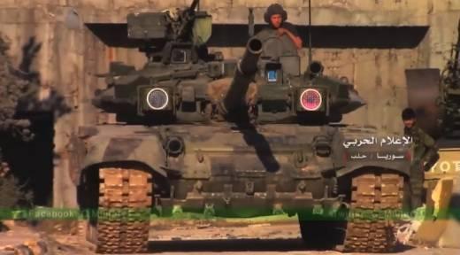 В Сирии запечатлена крайне редкая модификация Т-90