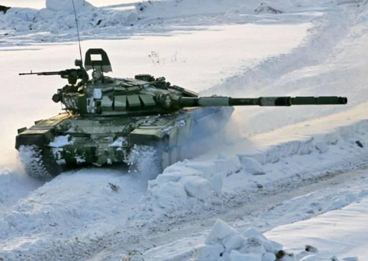Более 20-ти танков Т-72Б3 поступили в воинские части, дислоцированные в Подмосковье