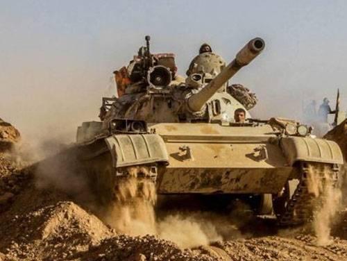 Танковая атака ИГИЛ на севере Ирака