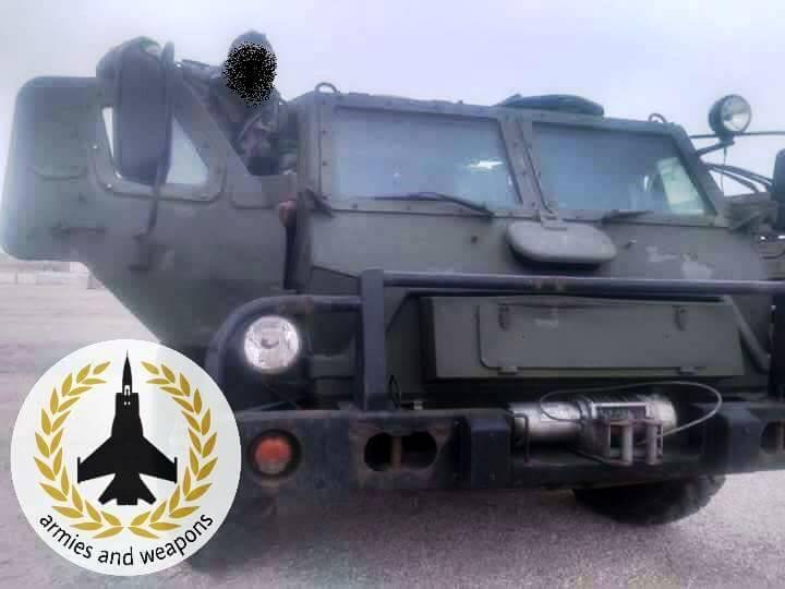 Бронеавтомобиль «Водник» в Сирии