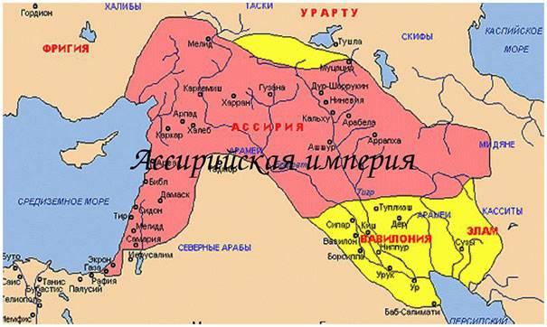 Assíria - o berço do exército das forças armadas (parte 2)