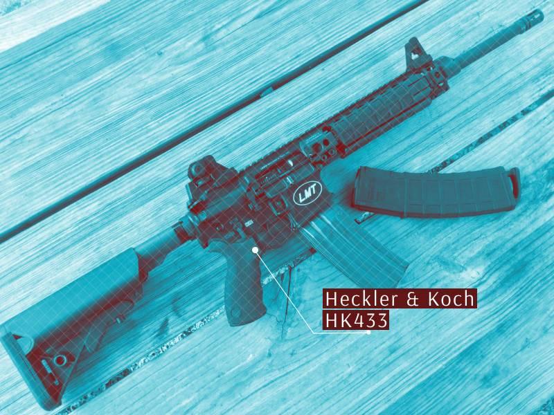 Modulares Sturmgewehr Heckler & Koch HK433