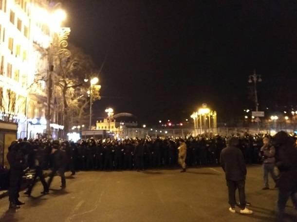 Беспорядки в центре украинской столицы