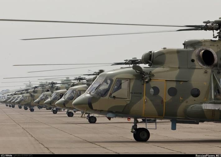 Suche Airbase im Ural erhielt 16 neue Mi-8MTV-5