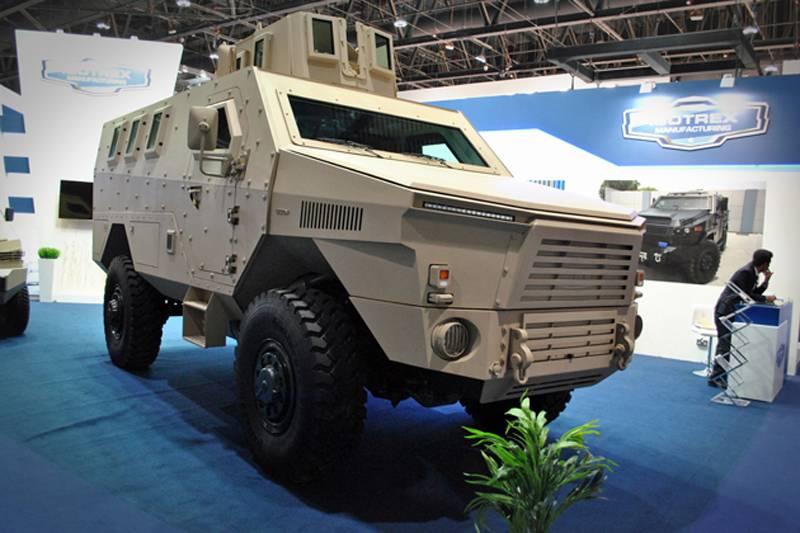IDEX 2017: uma empresa dos Emirados Árabes Unidos introduziu uma nova categoria de veículo blindado MRAP