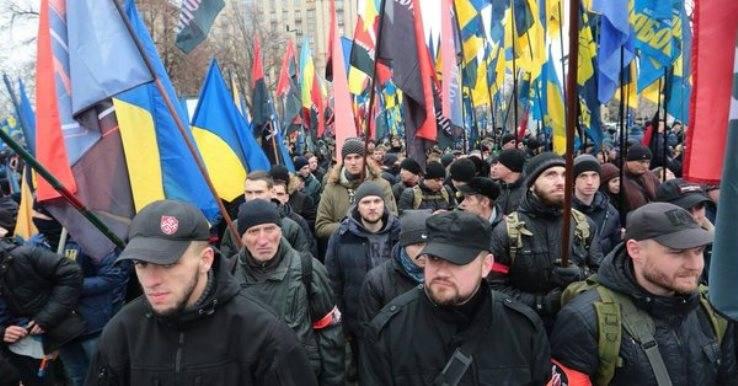 В центре Киева митингуют тысячи националистов