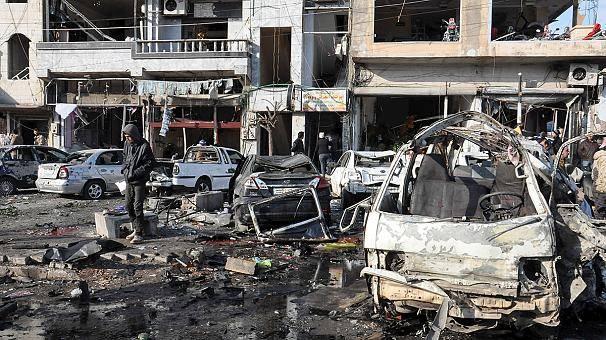Una serie di attacchi terroristici a Homs