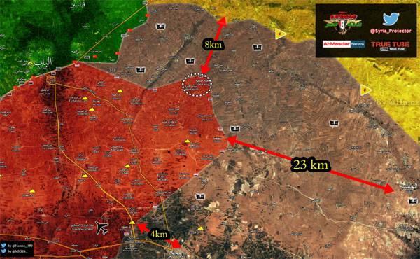 """В районе Эль-Баба """"сирийская свободная армия"""" обстреливает позиции ВС САР"""