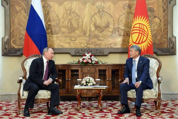 """В.Путин: """"Мы уйдём, когда Кыргызстан сам сможет себя защитить"""""""