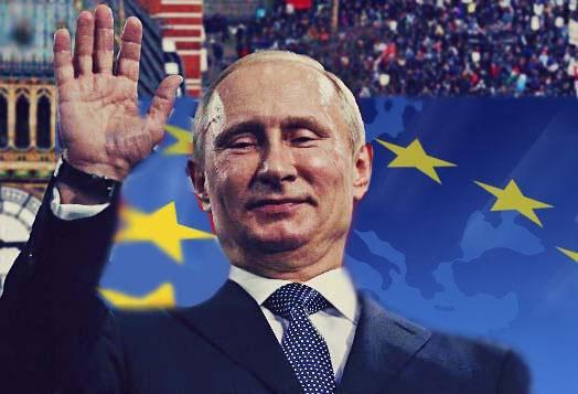 ВКиеве неизвестные радикалы сорвали ирастоптали флаги европейского союза