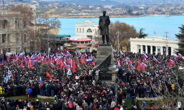 """VTsIOM: Os russos são contra a idéia de """"retornar a Criméia à Ucrânia"""" em troca da reconciliação com o Ocidente"""
