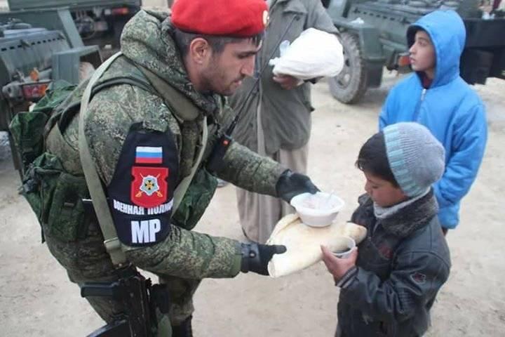 As atividades da polícia militar russa na Síria