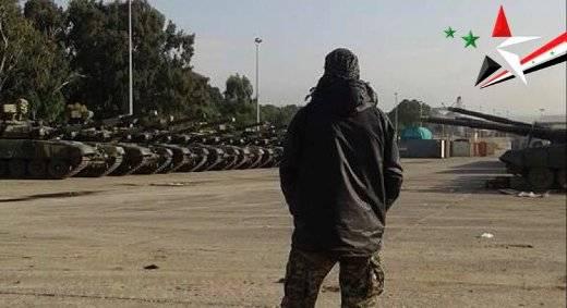 Новые Т-90 в Сирии?