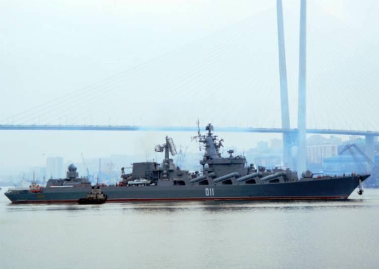 Ракетный крейсер «Варяг» готов кодиночному бою вморе— командование ТОФ