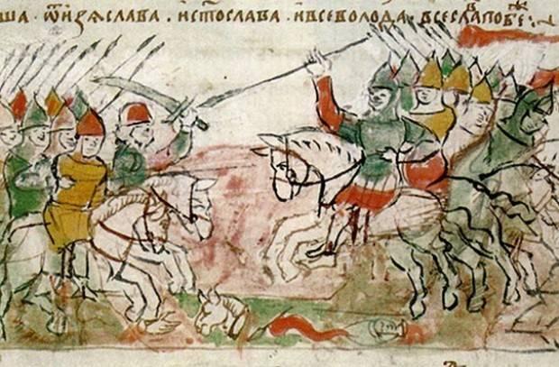 Die Schlacht von Nemiga ist eine der blutigsten Internecine-Schlachten Russlands