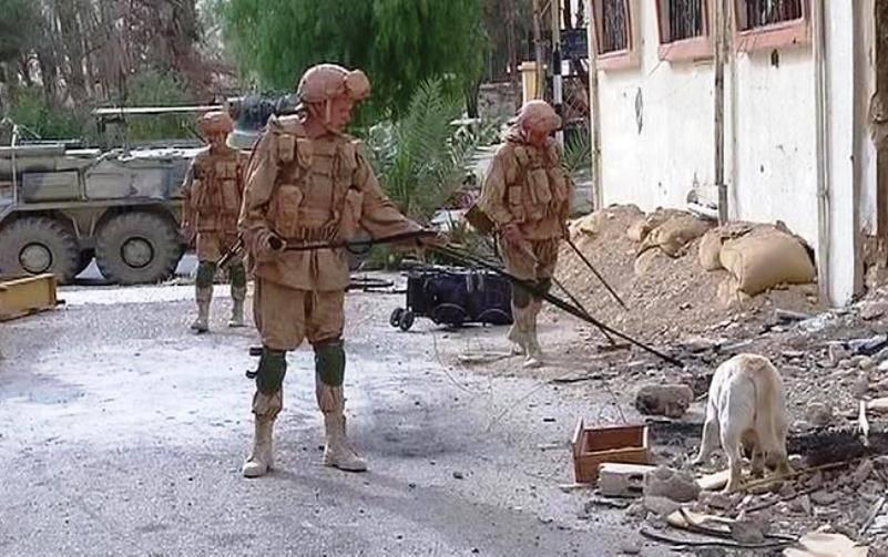 1-ый отряд русских саперов прибыл восвобожденную Пальмиру