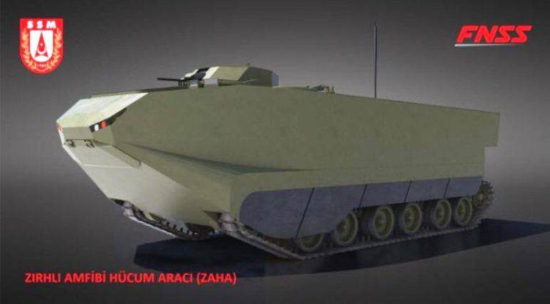 Turkish military ordered new amphibious armored personnel carriers