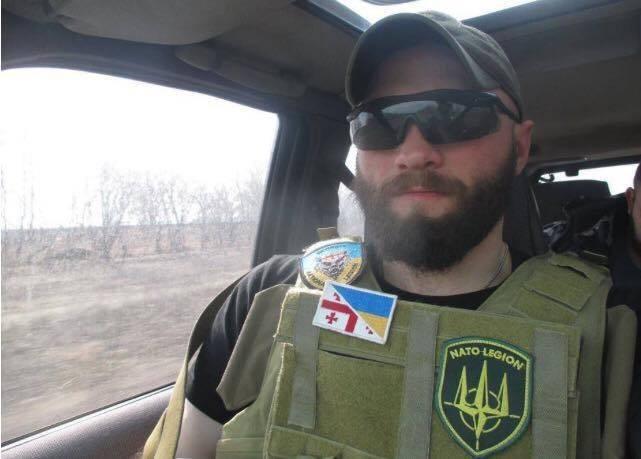 Die georgischen Söldner der Streitkräfte der Ukraine sind mit pravosekami im Donbass in den Kampf eingetreten