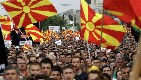 Mazedonien ist am Rande des Krieges
