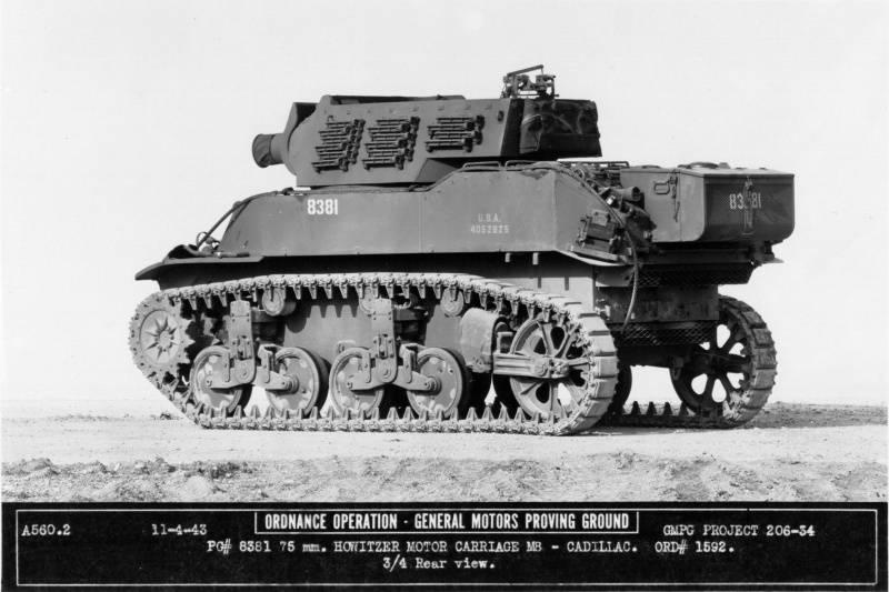 Howitzers semoventi della seconda guerra mondiale. Parte di 9. Howitzer Motor Carriage M8