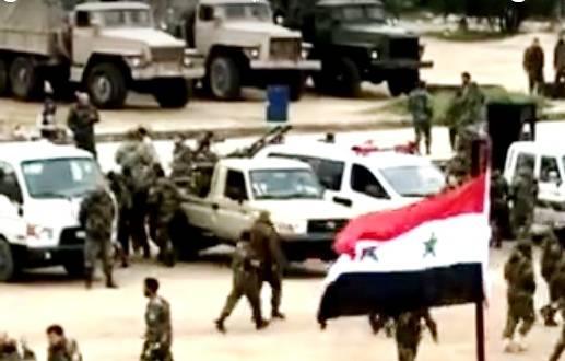 Сирийский спецназ использует бронированные автомобили Урал-4320-31