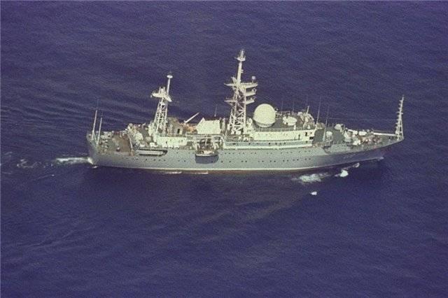 """Estados Unidos observa de cerca al explorador de barcos ruso """"Viktor Leonov""""."""