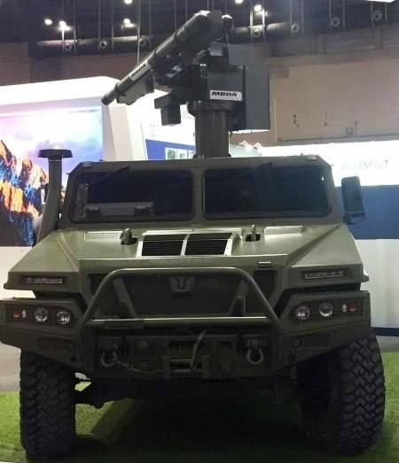 En España, presentó un nuevo sistema de defensa aérea de corto alcance.