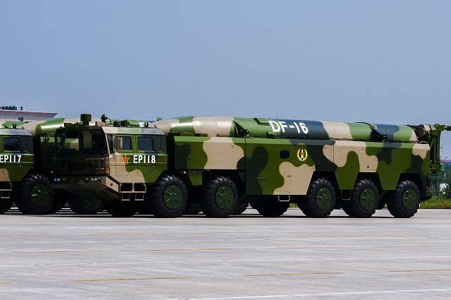 China apunta a Taiwán DF-16