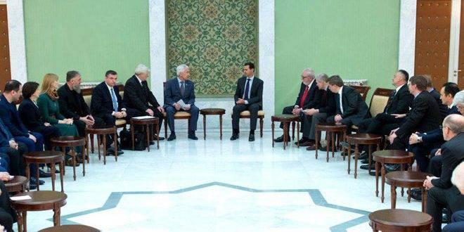 Deputados da Duma Estatal da Federação Russa discutiram com Asad questões sobre a criação de autonomias nacionais na Síria