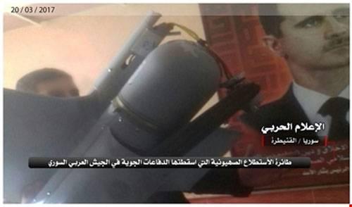 L'esercito siriano ha riferito di aver abbattuto il drone israeliano