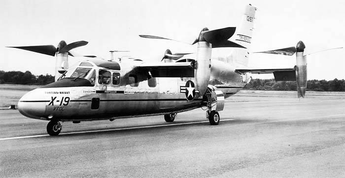 Convertoplane Curtiss-Wright X-19 (EE. UU.)