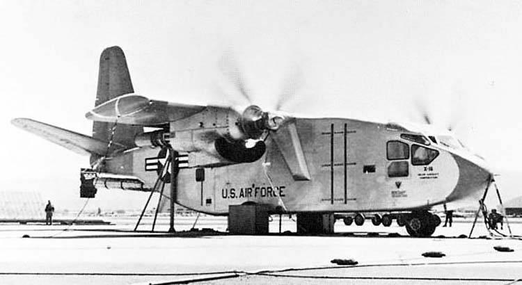 Экспериментальный конвертоплан Hiller X-18 (США)