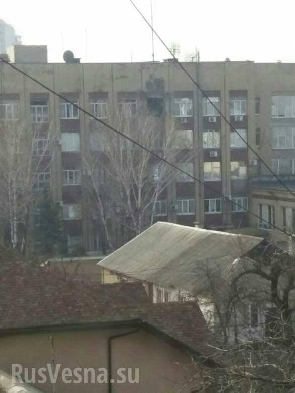 В Донецке здание Минобороны обстреляли из гранатомета