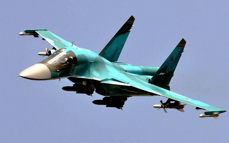 Боевики засняли мощные удары российских Су-30СМ, Су-25СМ и Су-34