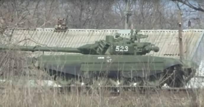 No recém-criado 8 th exército lucros T-72B3 nova modificação
