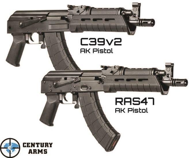 В США выпустили два «пистолетных» клона «Калашникова»