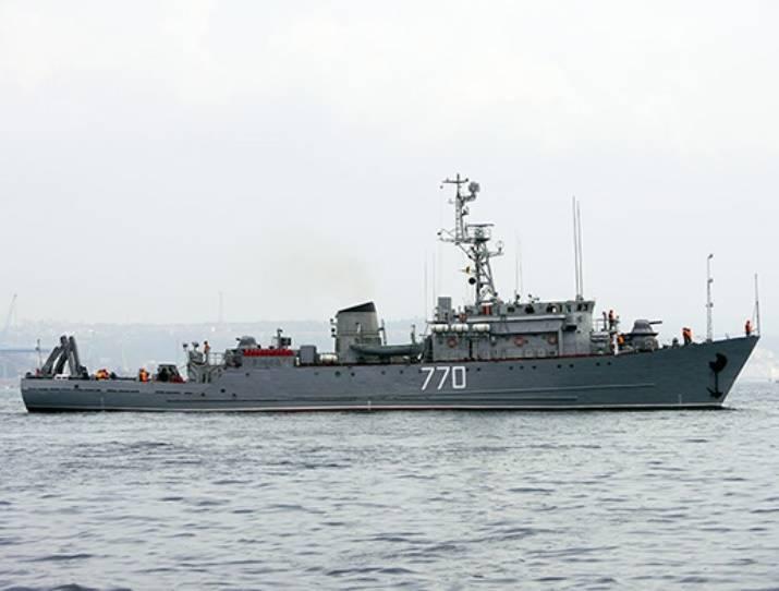 """El dragaminas """"Valentin Pikul"""" se suma a la agrupación de barcos navales en el mar Mediterráneo"""