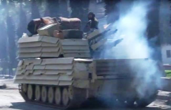 «Уголковая защита» замечена на сирийских «Шилках»